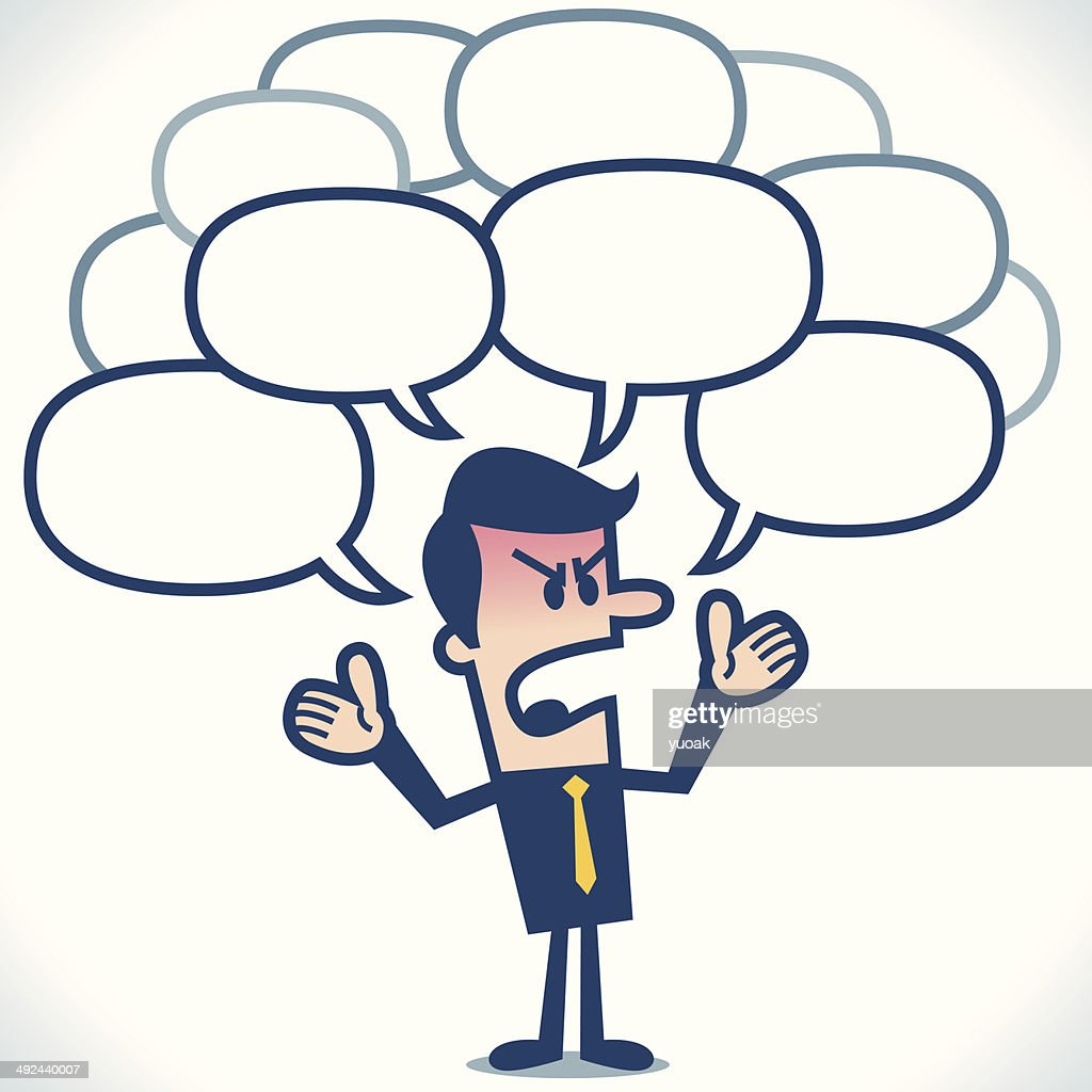 Angry Businessman talking : Vector Art