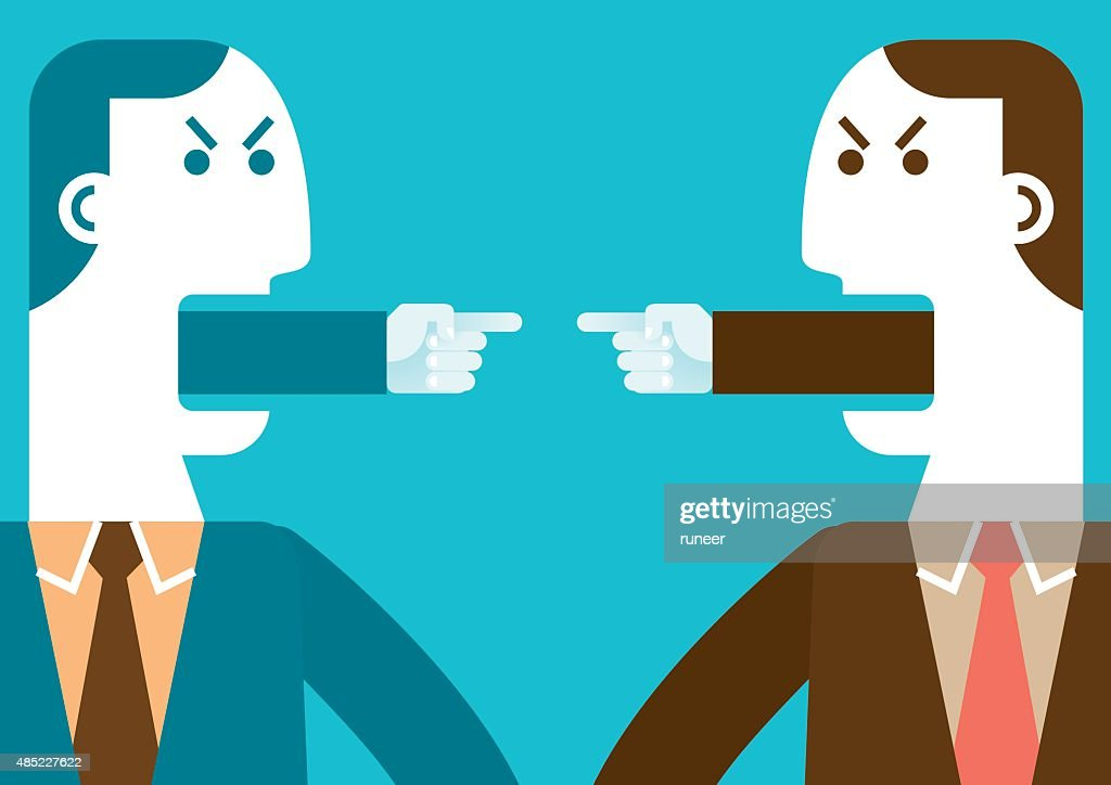 Angry Businessmen Pointing Fingers | New Business Concept : stock illustration