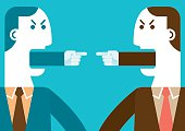 Angry Businessmen Pointing Fingers | New Business Concept