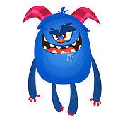 Angry cartoon monster yeti or bigfoot