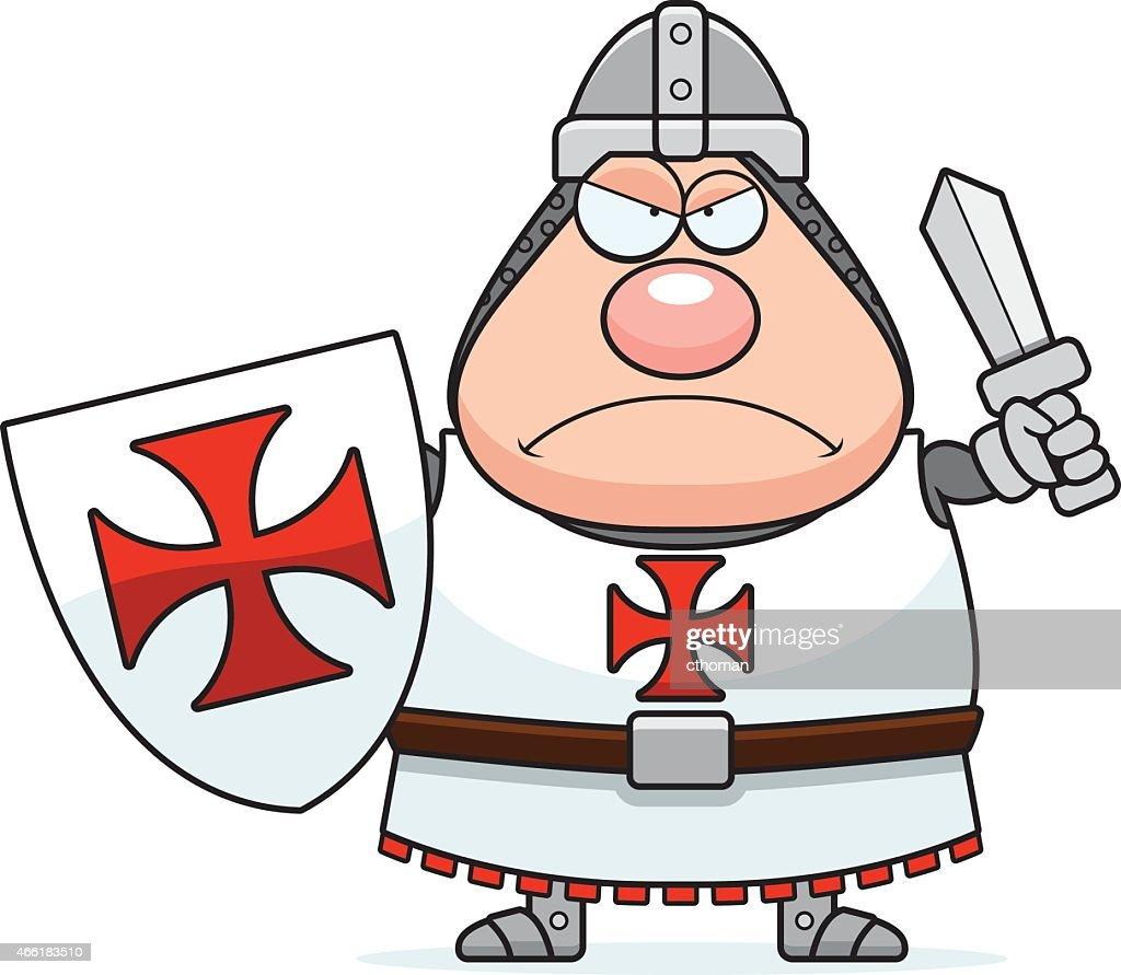 Angry Cartoon Templar