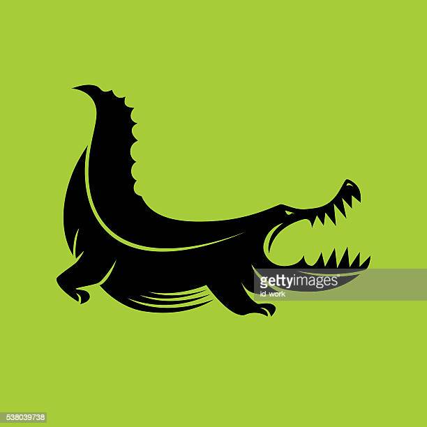 angry crocodile - alligator stock illustrations, clip art, cartoons, & icons
