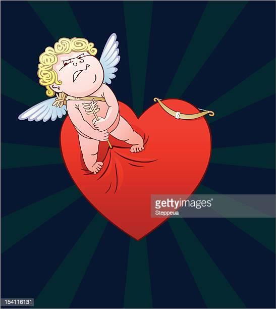 illustrations, cliparts, dessins animés et icônes de en colère cupidon - cupidon humour