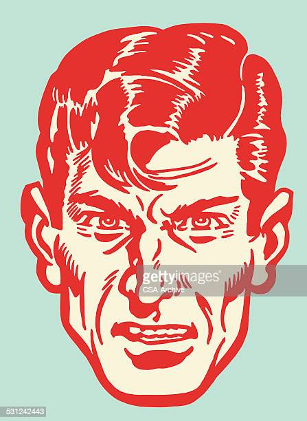 Angry Dark Haired Man