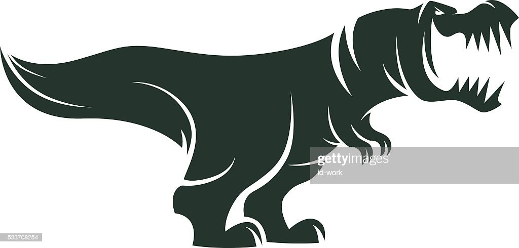 Arrabbiato di dinosauro : Illustrazione stock