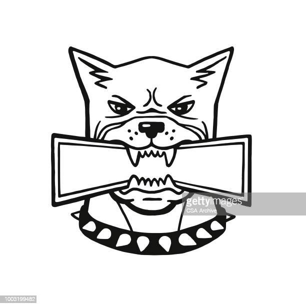 angry dog - toughness stock illustrations