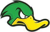 Angry duck mascot