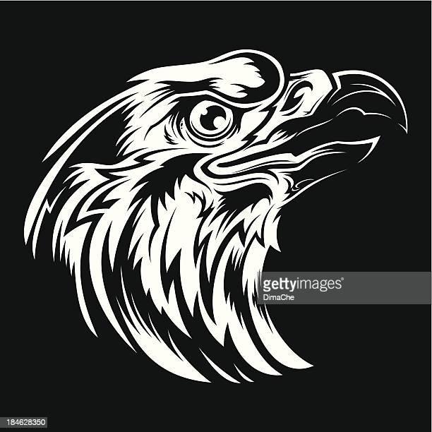 En colère eagle head