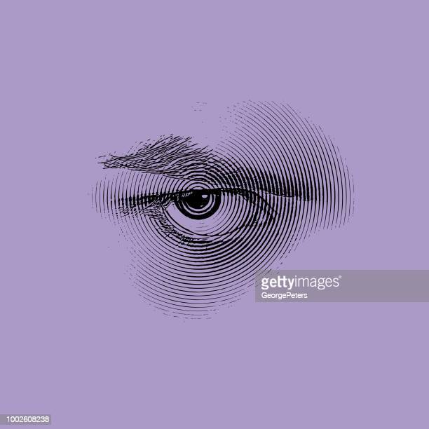 angry eye - passion stock illustrations
