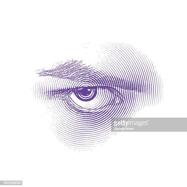 Wütend-Auge