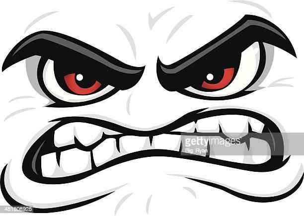 illustrations, cliparts, dessins animés et icônes de en colère visage - contrarié