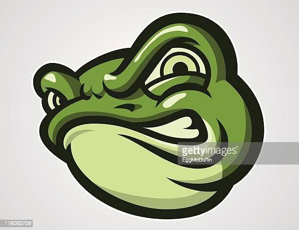 angry frog mascot - frog stock illustrations