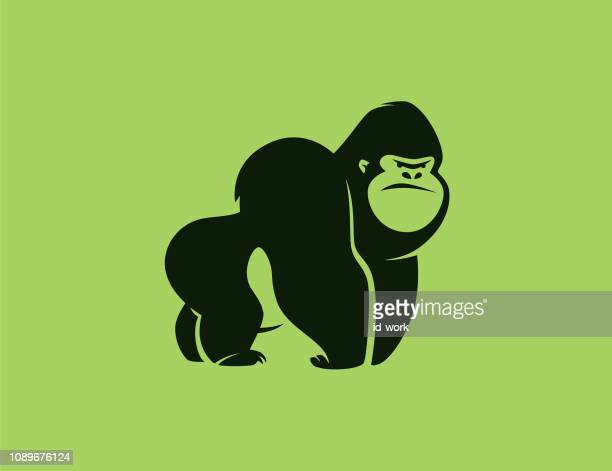 angry gorilla symbol - bigfoot stock illustrations