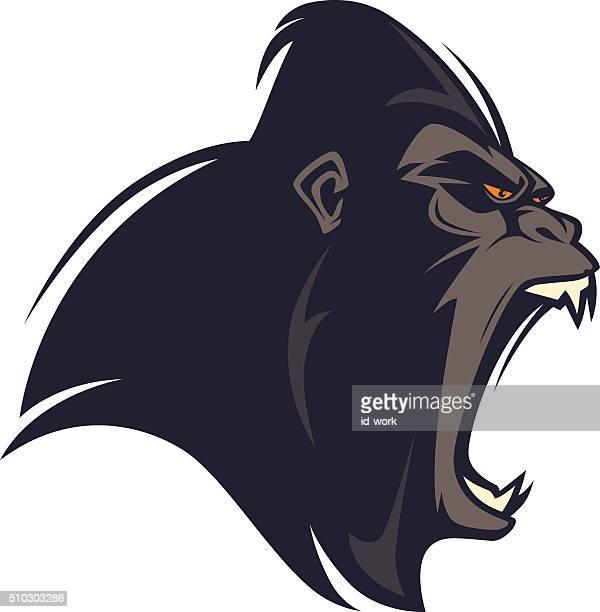 angry gorilla - agression stock illustrations, clip art, cartoons, & icons