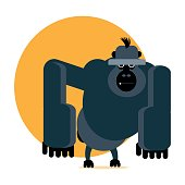 Angry gorilla vector illustration
