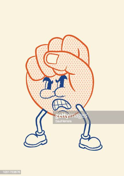 angry hand fist - fighting stance stock illustrations, clip art, cartoons, & icons