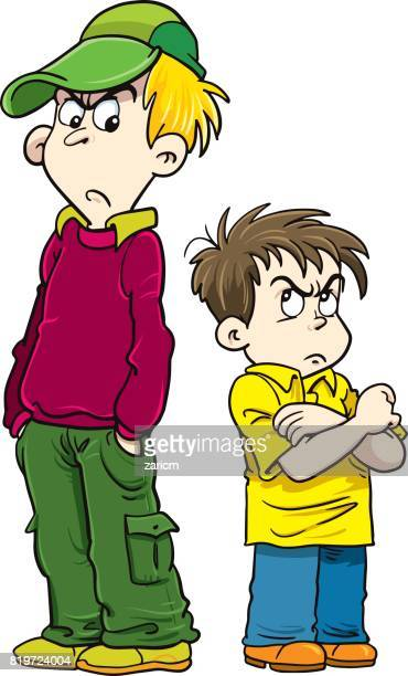 angry kids - stubborn stock illustrations, clip art, cartoons, & icons