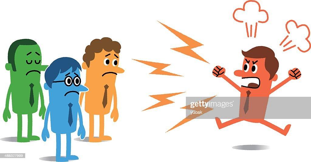 Angry man : stock illustration