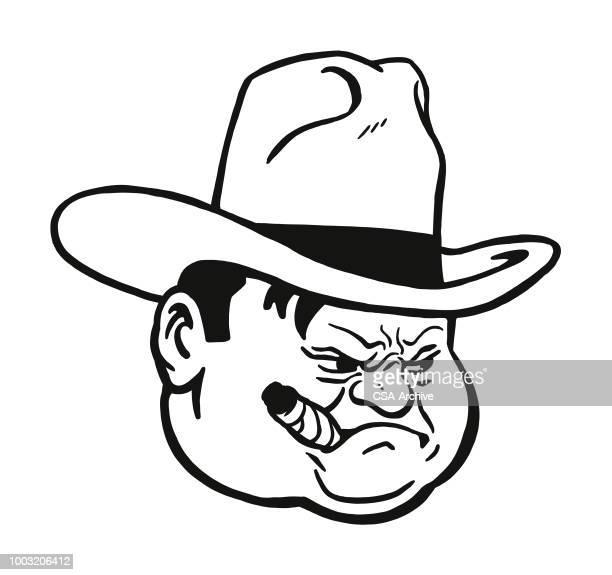 Angry Man Wearing Cowboy Hat