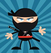 Angry Ninja With Background