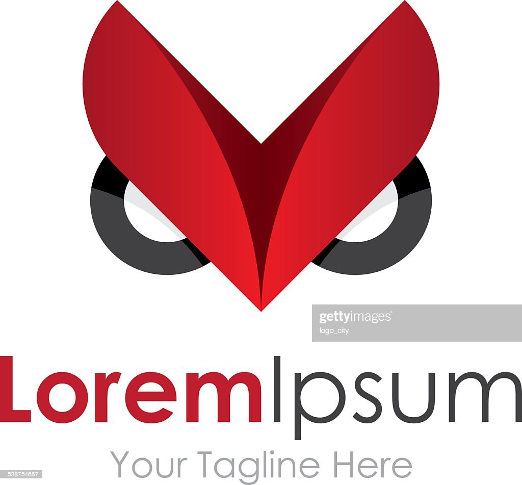 Angry owl get pro icon simple elements logo