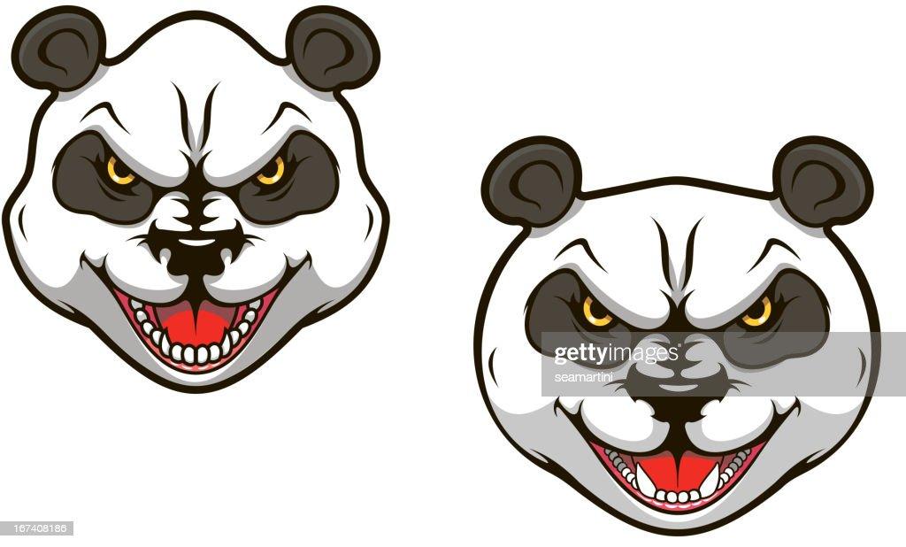 Angry panda bear : Vector Art