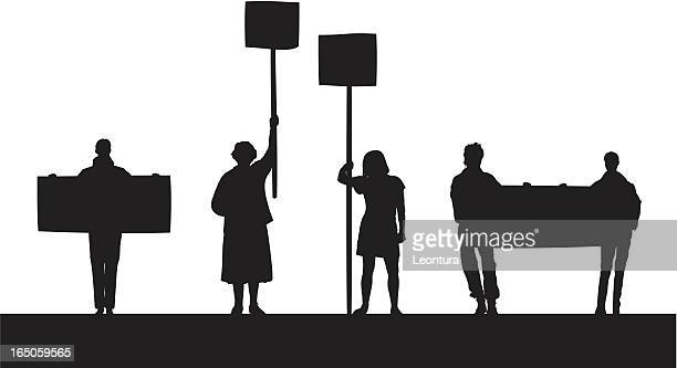 angry protestors - protestor stock illustrations, clip art, cartoons, & icons