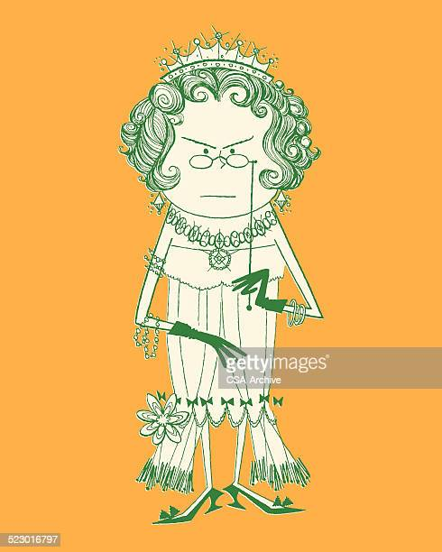 angry queen - bling bling stock illustrations, clip art, cartoons, & icons