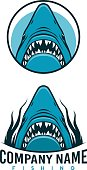 Angry shark emblems