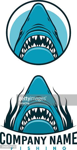Angry shark emblems