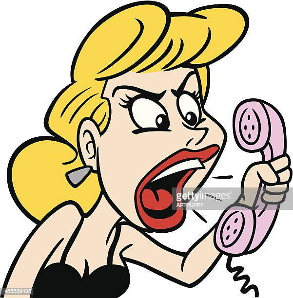 Angry Woman At Phone