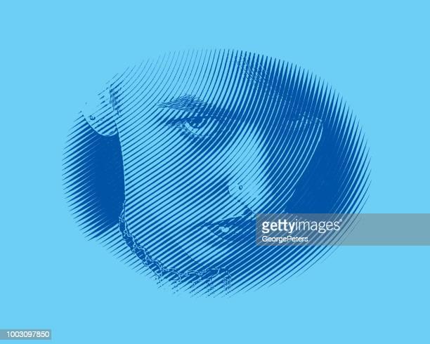 Böse Frau ins Gesicht