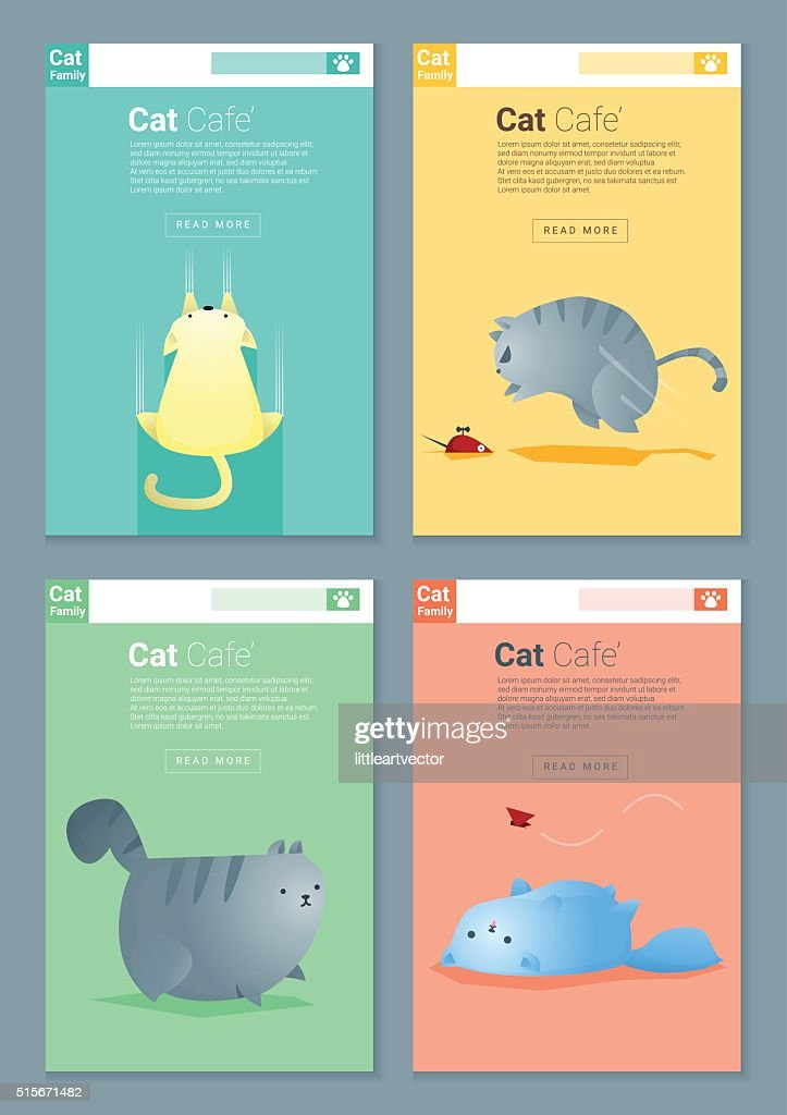 Animal banner with Cat story for web design 1