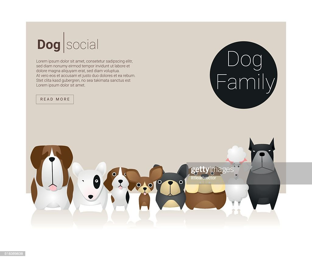 Animal banner with Dogs for web design 6