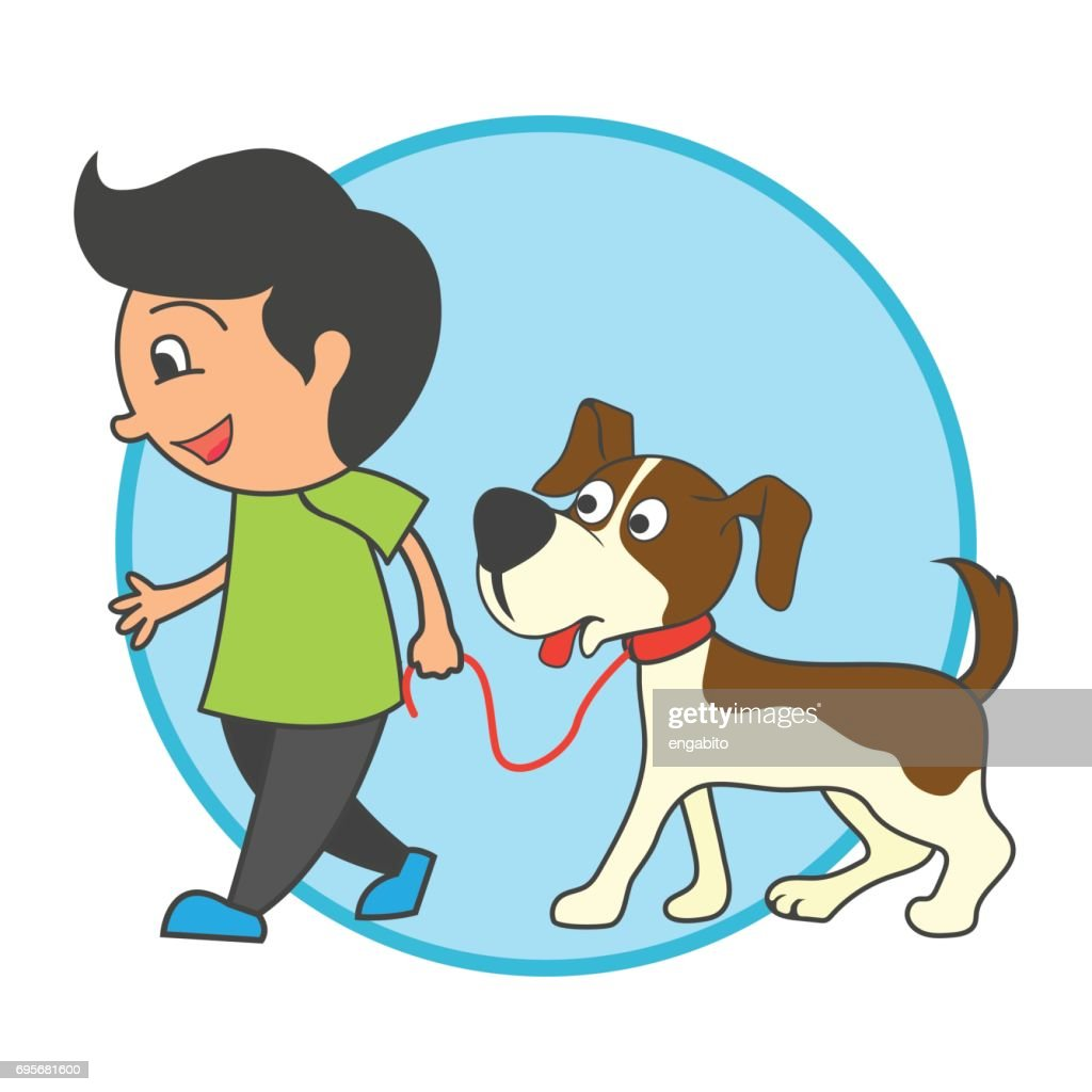 animal care concept, love, caring and affection to the animal. cartoon. vector illustration