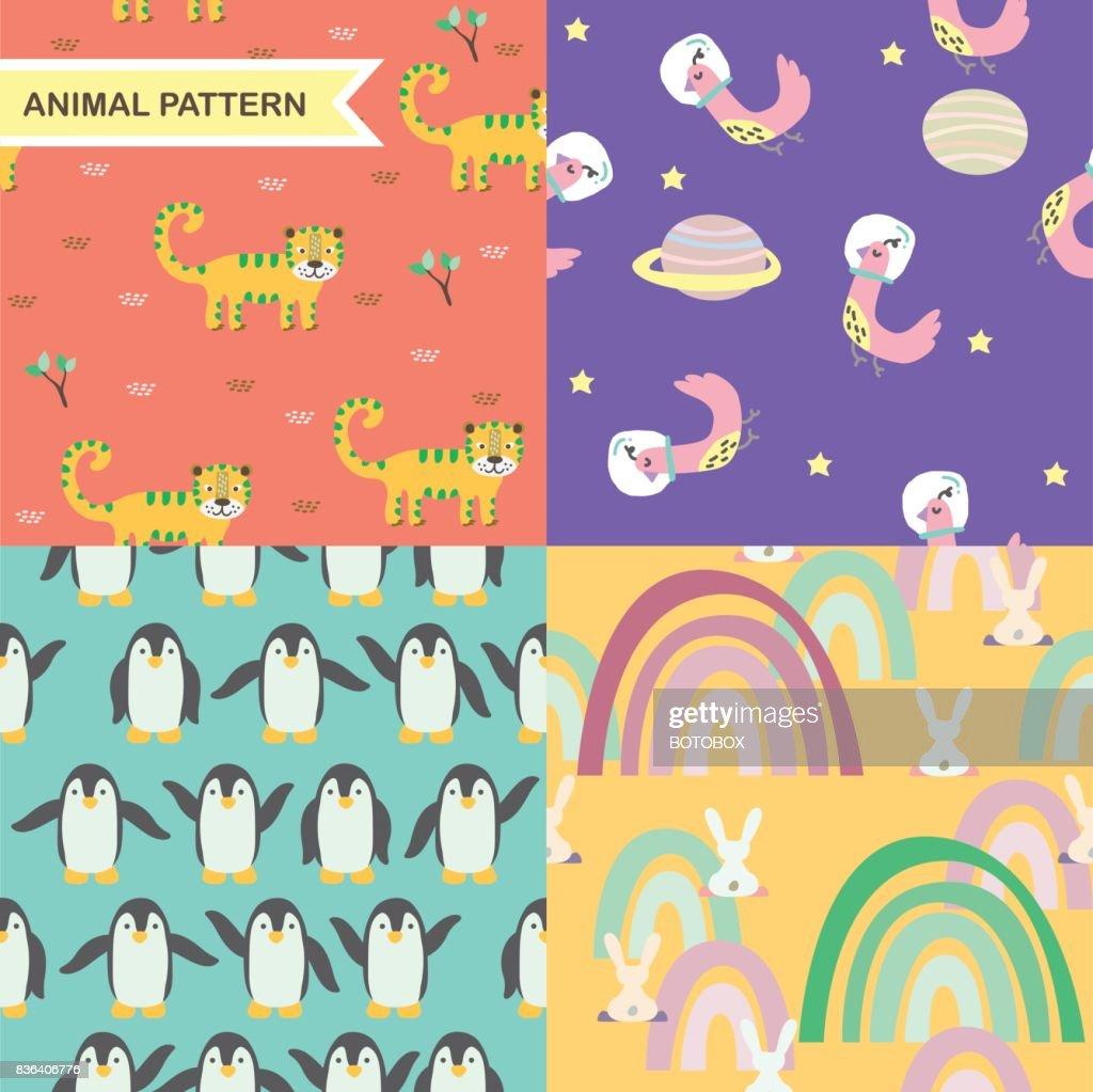 Animal cartoon pattern