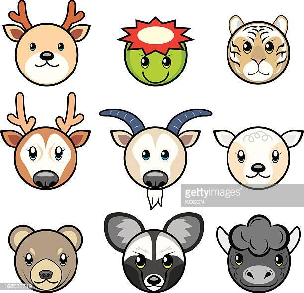 animal cartoon - buffalo new york state stock illustrations