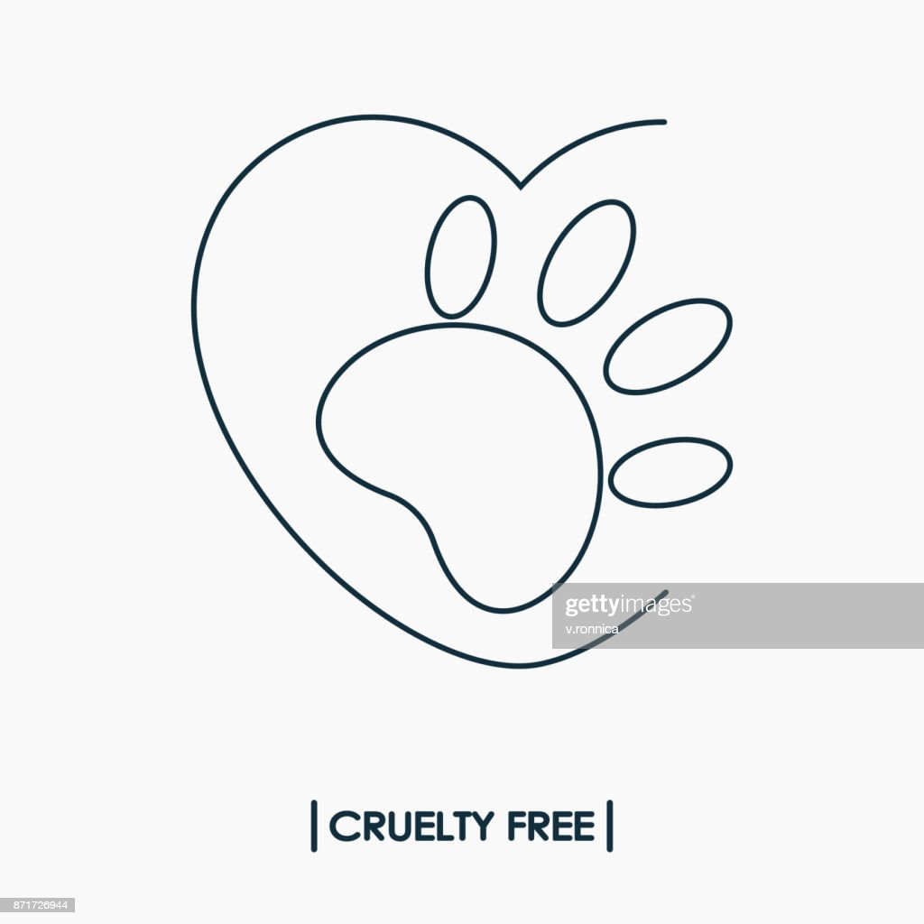 Animal Cruelty Free Icon Not Tested On Animals Symbol Vector Art