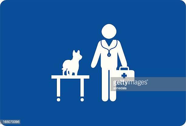 animal doctor - veterinarian stock illustrations, clip art, cartoons, & icons