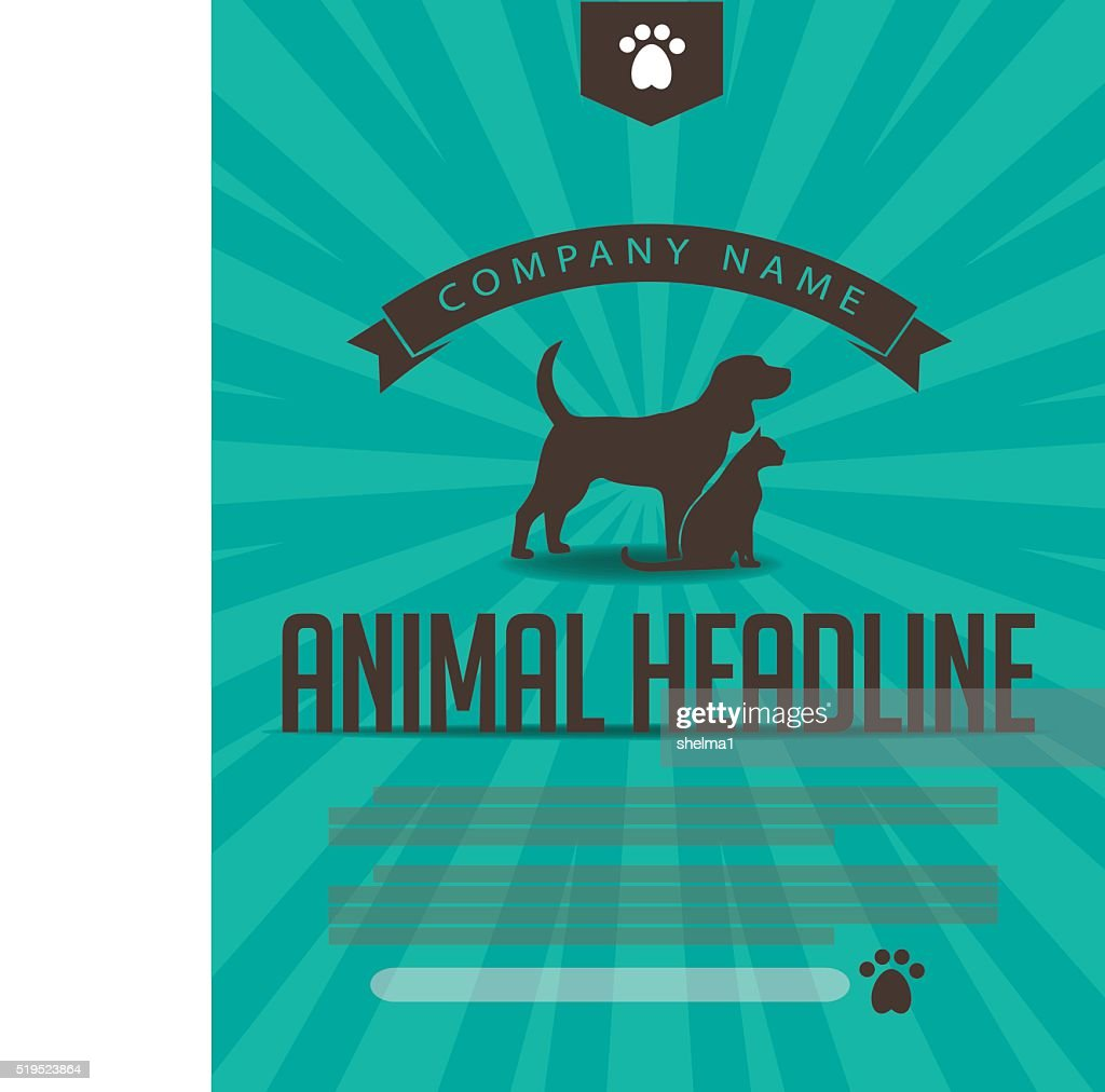 Animal dog and cat poster, infographic, advertising