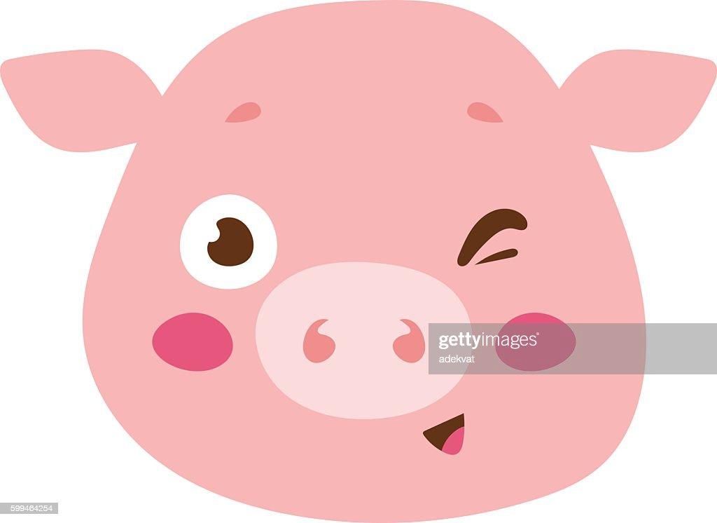 Animal emotion avatar vector icon