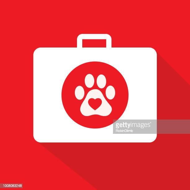animal first aid kit - animal track stock illustrations, clip art, cartoons, & icons
