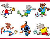 animal football players cartoon characters