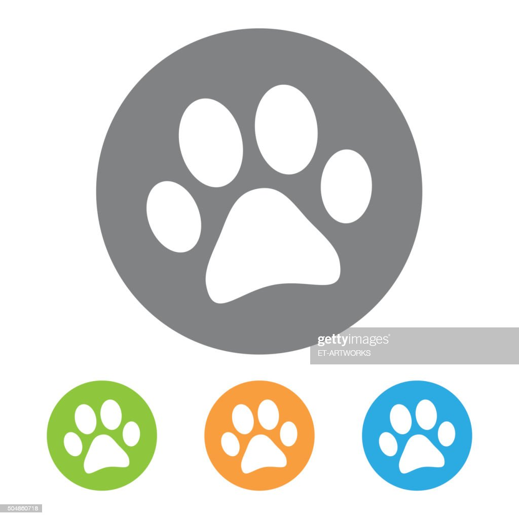 Animal footprint icon. Vector
