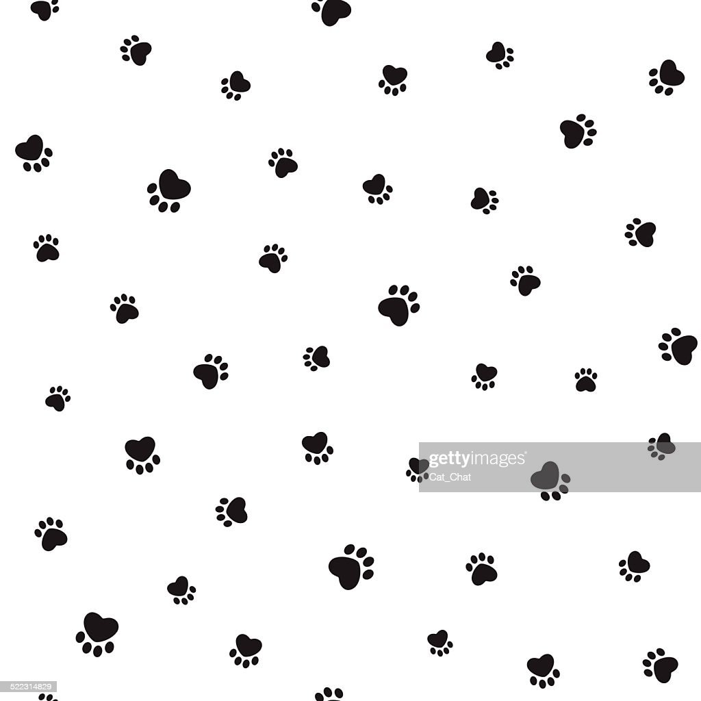 Animal footprints seamless background