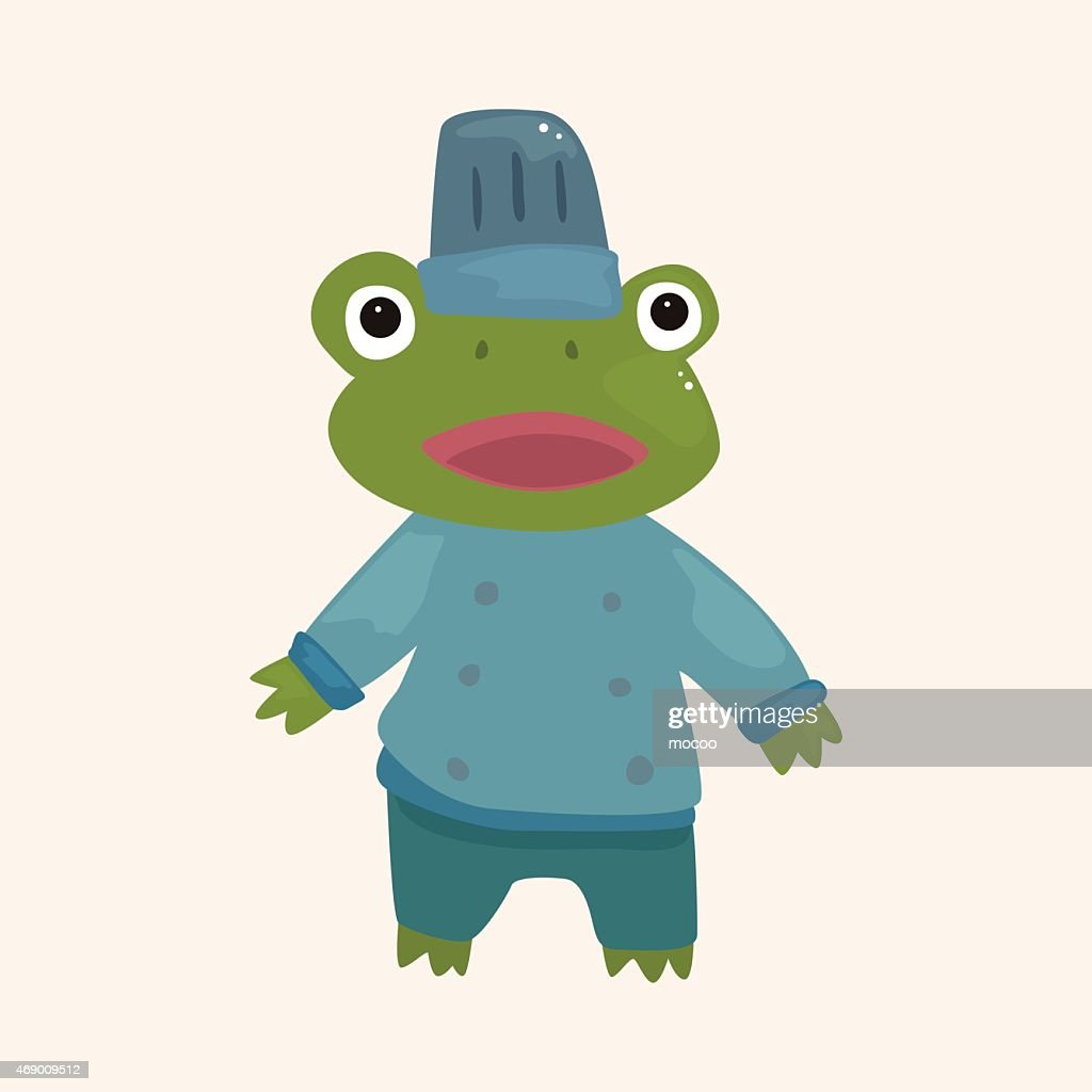 animal frog chef cartoon theme elements vector art getty images rh gettyimages co uk Cute Frog Silhouette Cute Frogs
