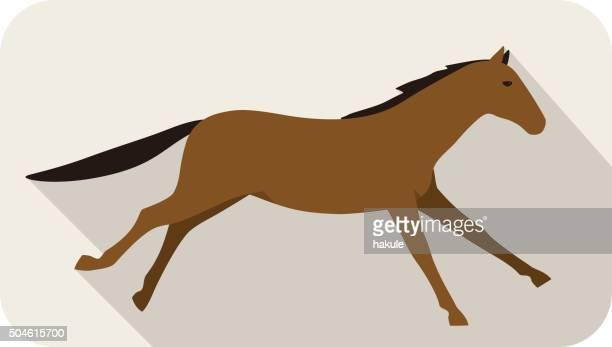 animal horse  series, running, vector - mustang wild horse stock illustrations, clip art, cartoons, & icons