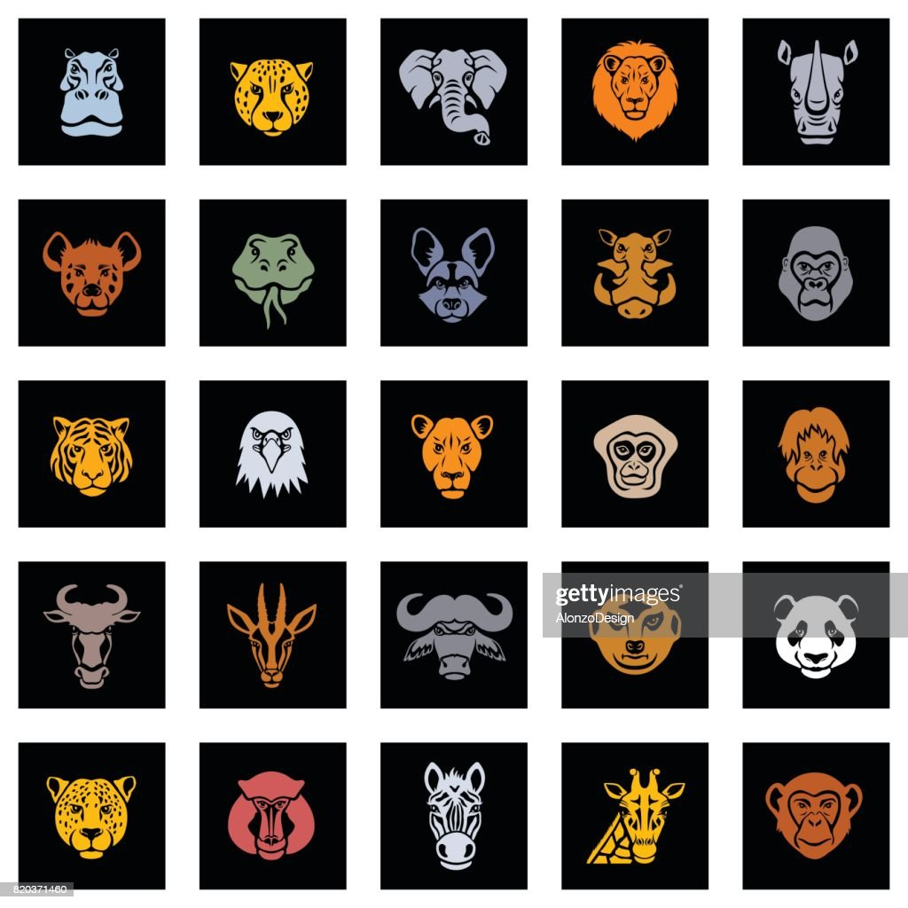 Animal Icon Faces