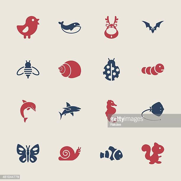 illustrations, cliparts, dessins animés et icônes de d'icônes-série couleur/eps10 - coccinelle