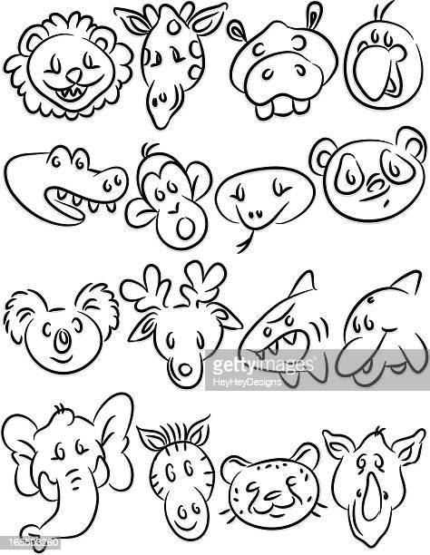illustrations, cliparts, dessins animés et icônes de animaux icônes ii - koala